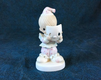 Vintage Precious Moments Figurine, Special Edition, Put On A Happy Face 1981