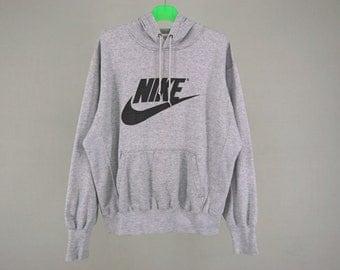 Nike Sweatshirt Men Size M/L 90s Nike Vintage Gray Tag Hoodie