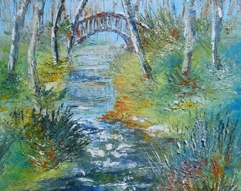 "Painting ""The Small Bridge"""