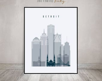Skylines grey - blue
