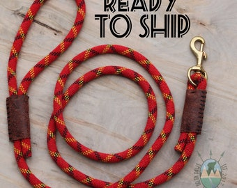 READY to SHIP! 6FT canyon Leash || Rock Climbing Rope Dog Leash || Handmade in the USA