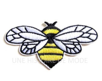 Patch, badge fusible bee sew or iron 90 x 46 mm