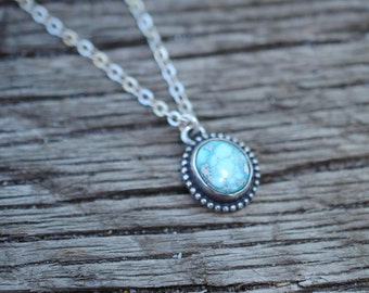 Dainty Turquoise Necklace | Sterling Silver