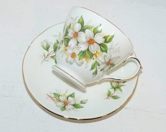 Dutchess  Teacup & Saucer Bone China England  -  1474