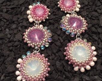 "Collection ""Triptych""-Purple Rain ... bow Earrings"