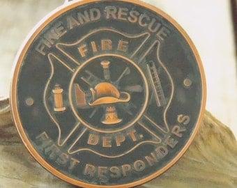 1 oz .999 Pure Copper Coin -  Fire and Rescue