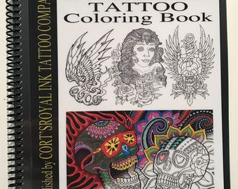 rock and roll tattoo coloring book 8 12x11 of killer designs - Tattoo Coloring Books