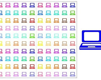 FREE SHIPPING**2 Sheets of Laptop Stickers for Planners, Notebooks and Journals, ST038