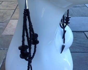 Glam Earrings | Long Bead Earrings | Statement Earrings
