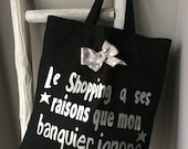 Le tote bag message shopping