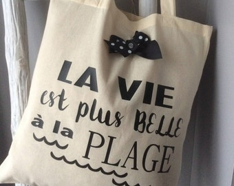 """The tote bag """"A life at the beach""""!"""