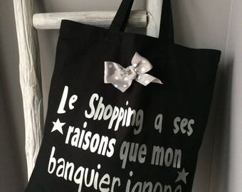 The tote bag shopping message
