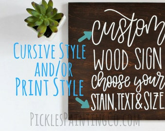 Custom Sign - Hand Lettered - Wood Sign - Modern Farmhouse - Personalized Decor - Gift For Her - Christmas Gift