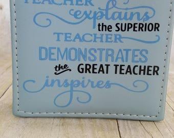 The Good Teacher Notepad Holder-Teacher Notepad-Personalized Notepad Holder-Desk Accessories-Teacher Appreciation-Office Accessories