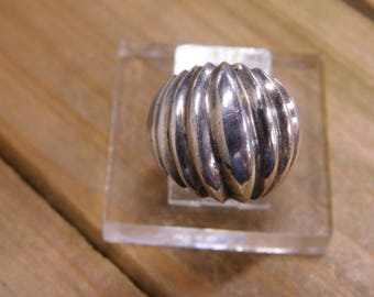 Sterling Silver Textured Dome Ring Size 5 1/2