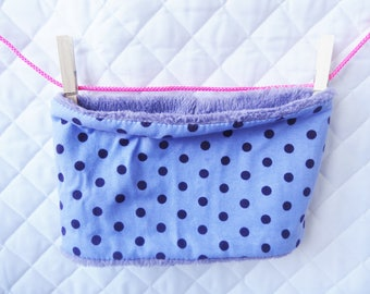 snood soft fleece baby purple and small dots - baby scarf - Snood fleece - print snood - snood with polka dots