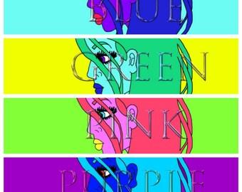 Digital Art - Neon Girl Print