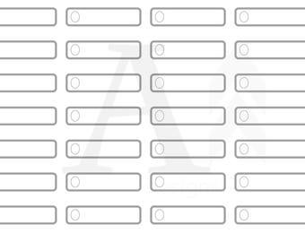 1/4 box (quarter box) plain planner stickers - gray