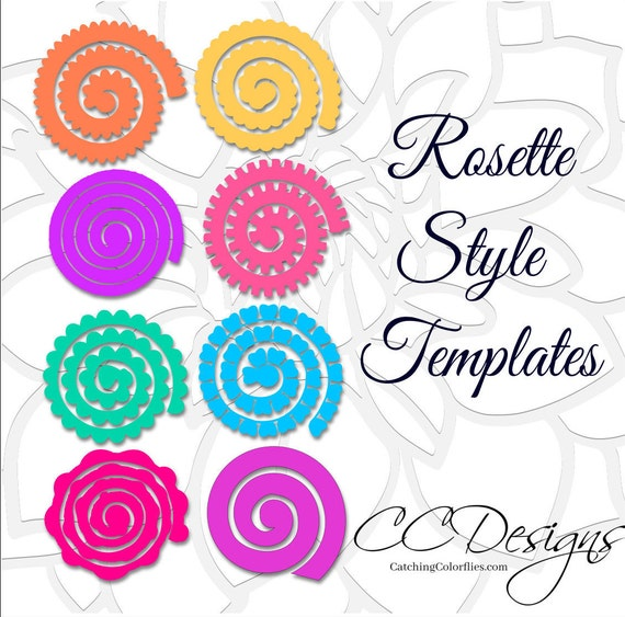 Paper rolled rosette templates diy paper flowers printable pdf il570xn mightylinksfo