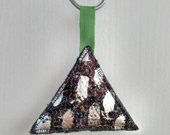 Recycled fabric foiled bauble