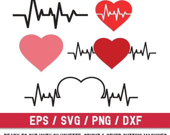 Heartbeat svg,Heartbeat svg file,Heartbeat cut file,Heartbeat silhouette, Medical svg, Nurse svg, Pulse svg, Heart svg, Nurse live svg, dxf