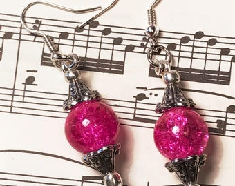 Gifts for Her, Fun, Flirty, Hot Pink Earrings