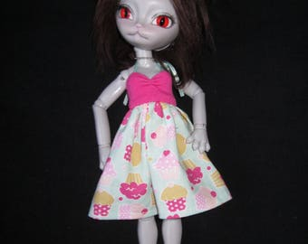 Summer dress for Hujoo BJD doll in YOSD, 1/6 size