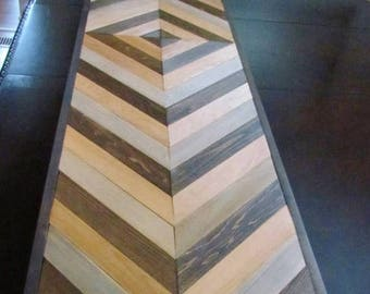 Chevron Wood Table, Console Table Top, Geometric Wood, DIY Table top, Chevron Sofa Table, Entry Table Top, Side Table Top, Southwest Decor