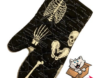 Glow in the Dark Skeleton Oven Mitt