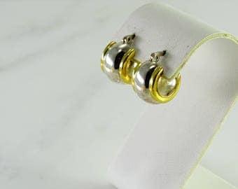Sterling Huggie Pierced Earrings   (k)