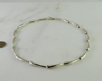 "16"" Choker Length Sterling Necklace"