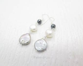 Fresh water Pearls Sterling Silver Dangle Earrings