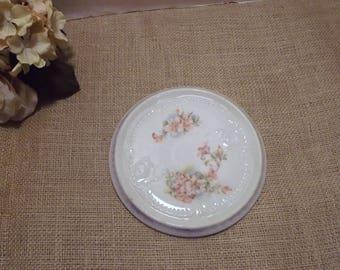 Floral Porcelain Trivet - Porcelain Trivet, Floral Trivet, Shabby Chic Trivet, Ceramic Trivet, Round Trivet, Vintage Trivet, Flower Trivet