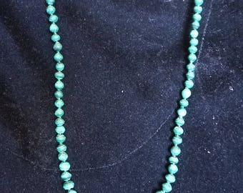 Gorgeous green Malachite necklace.