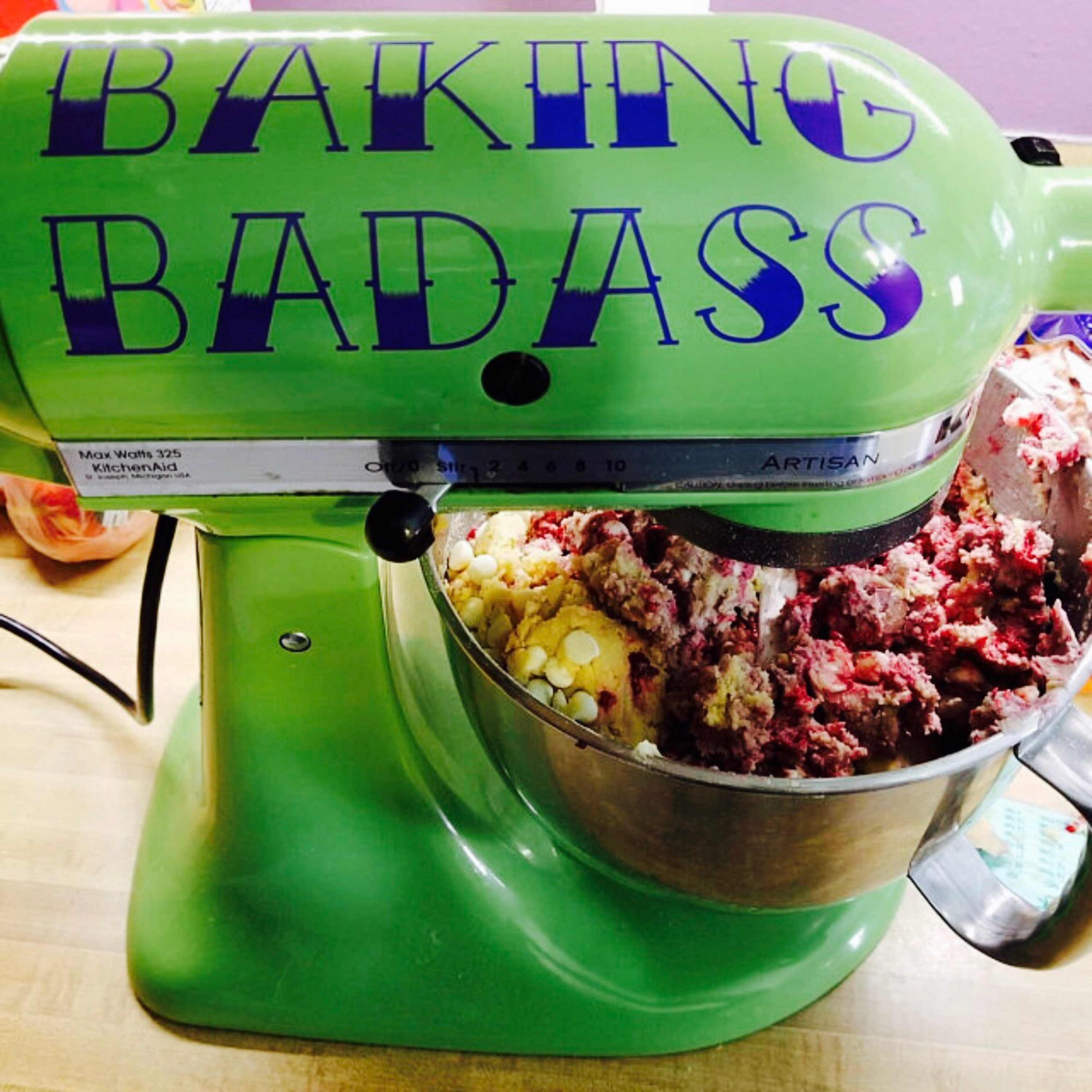 Kitchen Aid Mixer Decal Standup Mixer Decal Baking Badass