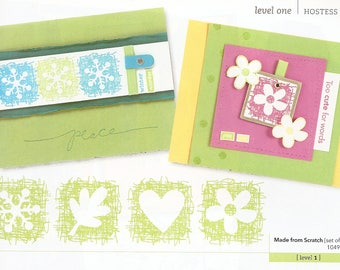 Made from Scratch Retired Stampin Up Set of 4