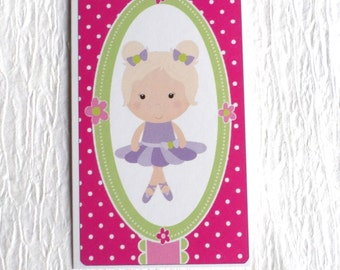 100 PRICE TAGS HANG Tags Retail Tags Boutique Tags Cute Ballerina Girl Merchandise Tags Clothing Tags With 100 Plastic Loops