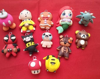 Custom-made polymer clay figurines