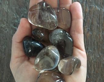 Small Tumbled Smoky Quartz, tumbled gemstone, genuine smoky quartz, grounding, psychic protection