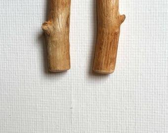 Beech Earrings, Wood Earrings from the Scandinavian Forests