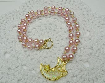 Lolita Sparkle Moon Necklace