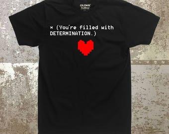 Undertale Dertermination graphic shirt, gamer, tops and tees, cosplay, gamer shirt, clothing, unisex shirt