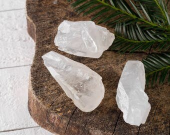 Three Small White CALCITE Crystals - Raw Crystal, Rough Calcite, Healing Crystal, Healing Stone, Chakra Crystal, Energy Crystal E0515