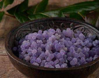 Lustrous GRAPE AGATE Single Seeds - 10, 50 or 100g lot - Druzy Botryoidal Agate, Grape Agate Cluster, Druzy Agate, Grape Agate Jewelry E0679