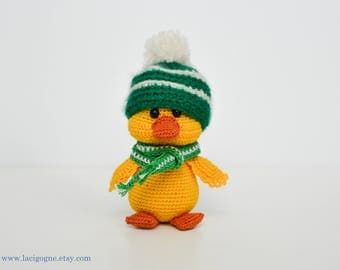 Max the Cute Duck Crochet Amigurumi Toy Amigurumi duck Crochet duck Crochet duckling Duck crochet Fairytale gift Christmas gift