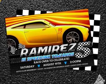 Custom Cars 3 Cruz Ramirez Birthday Invitation - 5x7 or 4x6