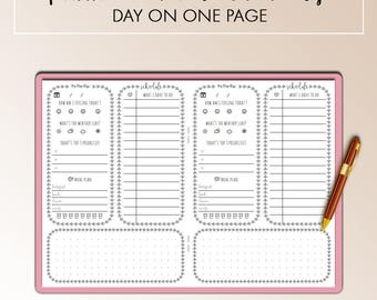 Traveler's Notebook A6 Day On One Page DO1P Insert Printable