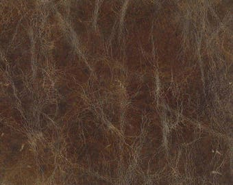 Vintage Brown Distressed Top Grain Aniline Full Hide , Leather
