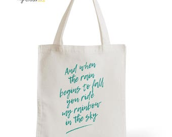 Bag cotton Tote Bag When The Rain