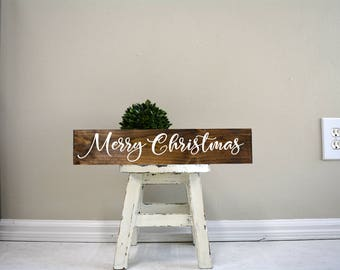 merry christmas sign merry christmas wood sign custom christmas sign custom wood - Merry Christmas Wooden Sign